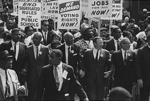 Razzismo nello sport. Mercoledì 28 agosto 1963 oltre 200.000 persone parteciparono alla Marcia su Washington per il lavoro e la libertà, chiusa dal discorso di Martin Luther King jr.