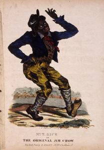 Razzismo nello sport. Disegno di Edward Williams Clay, che rappresenta Jim Crow, un personaggio inventato per schernire gli afroamericani.