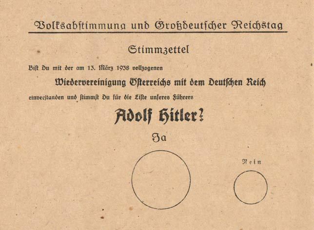 sport e nazismo scheda elettorale anschluss