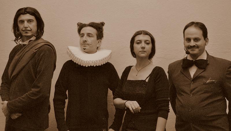 didattica storia: la compagnia teatrale al completo