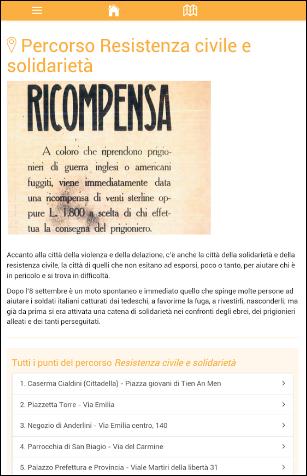 App storia: uno dei percorsi di Resistenza mAPPe Modena