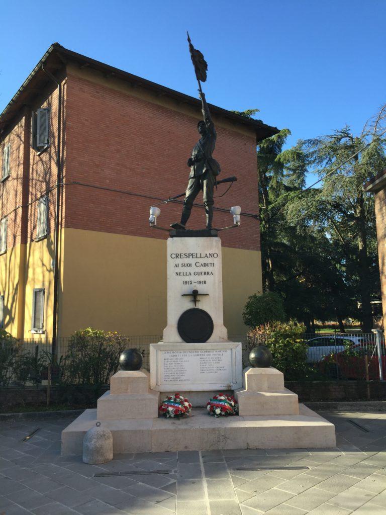 pedalando nella storia il Monumento ai Caduti di Crespellano