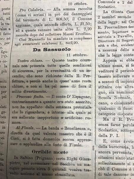 Master in Public History: Teatro comunale di Sassuolo chiuso