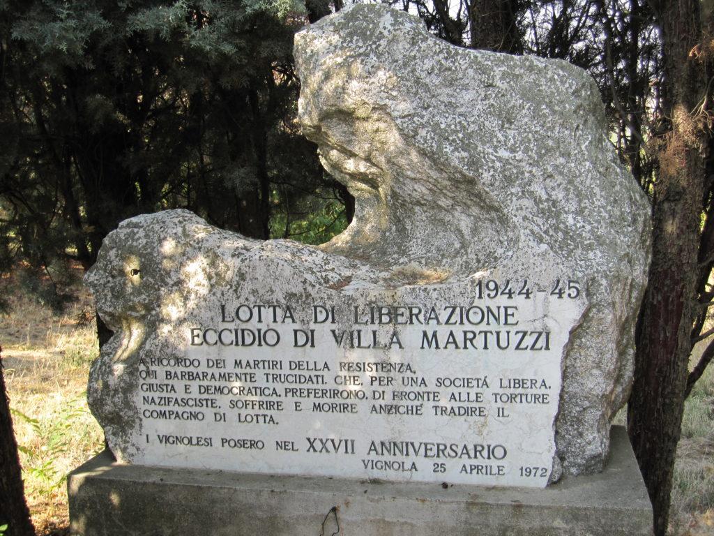 Dalla Resistenza alla Costituzione. Il monumento che ricorda la strage di villa Martuzzi.
