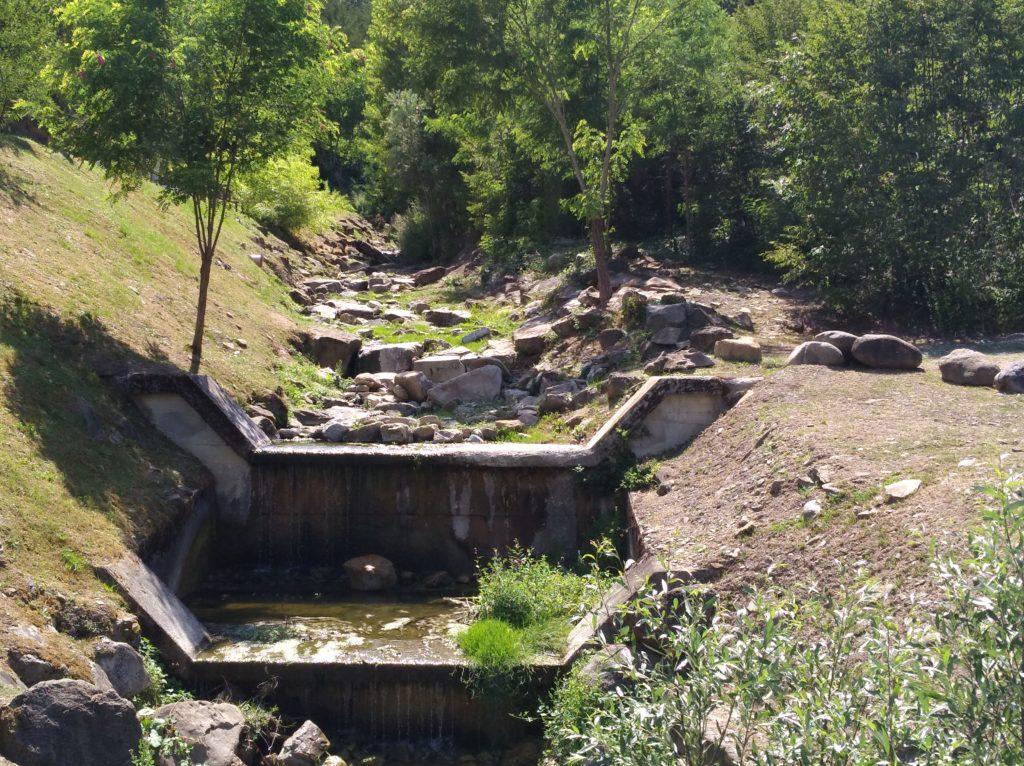 Piccolo corso d'acqua nei pressi della Centrale idroelettrica di Farneta.