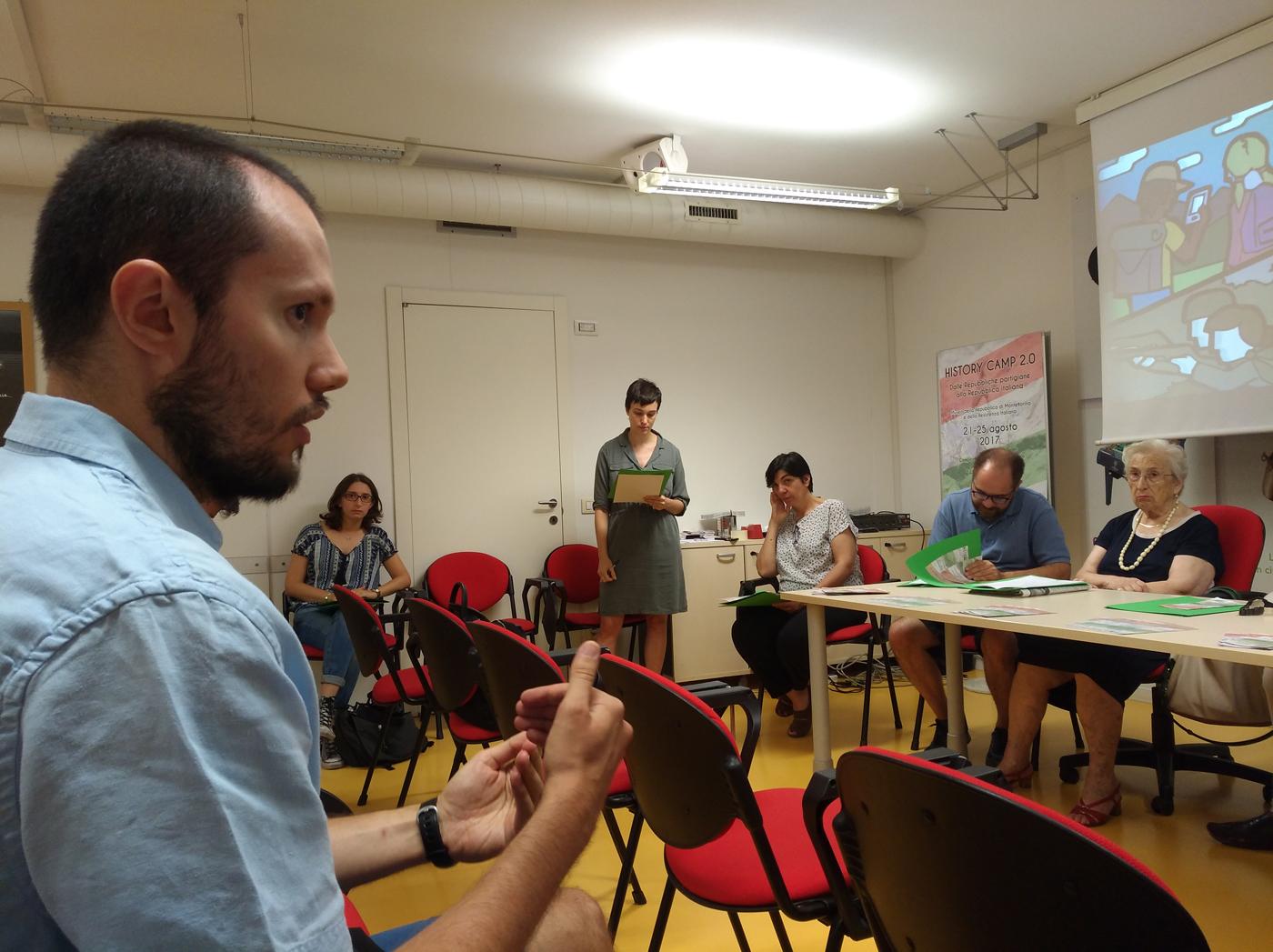 History Camp 2.0; intervento di Daniel Degli Esposti alla conferenza stampa