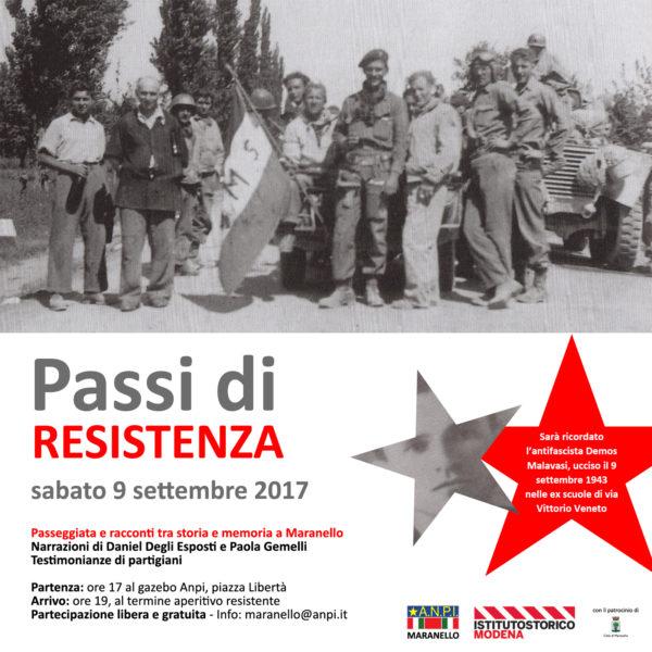 Passi di Resistenza. Passeggiata in 7 tappe fra storia e memoria nel centro di Maranello