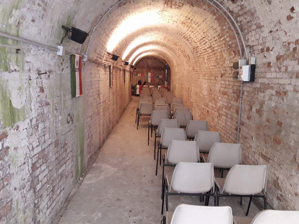 L'interno del rifugio antiaereo Mario Anderlini