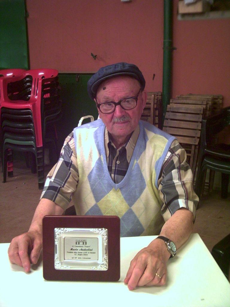 Frequenze partigiane. Il partigiano bazzanese Mario Anderlini, morto il 12 gennaio 2017 a cent'anni di età