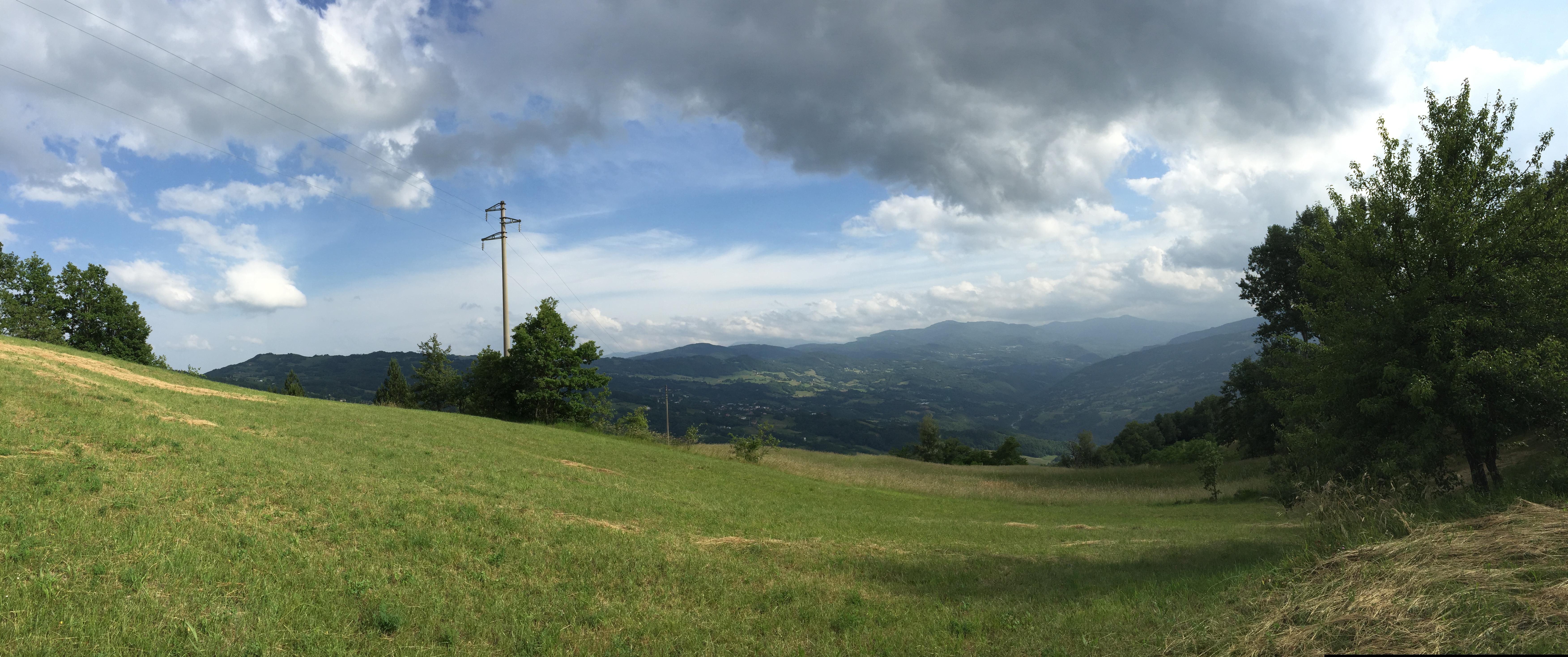 Mario Allegretti. Panorama dalla cima del monte Santa Giulia.