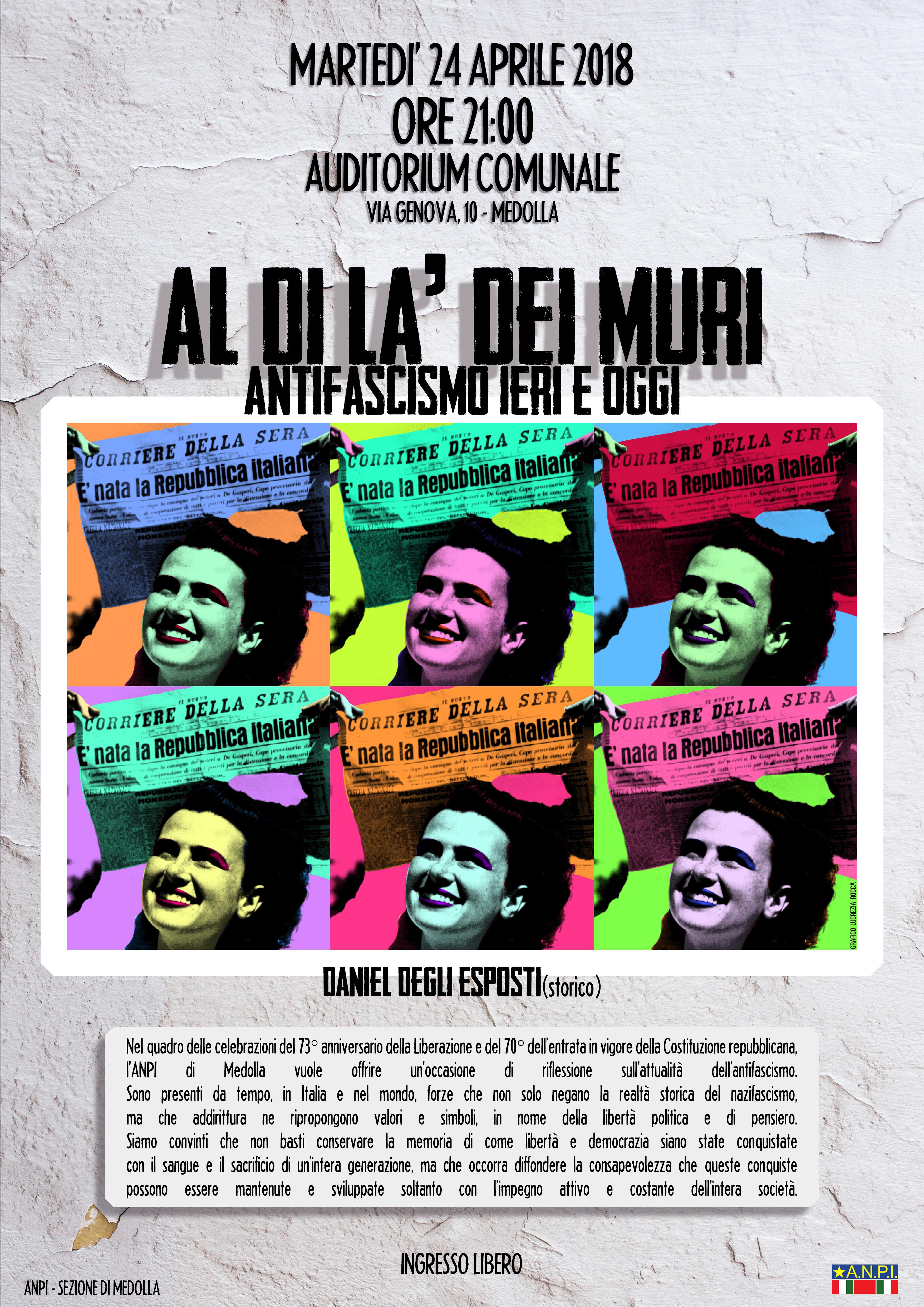 Il 24 aprile a Medolla: 25 aprile provincia di Modena