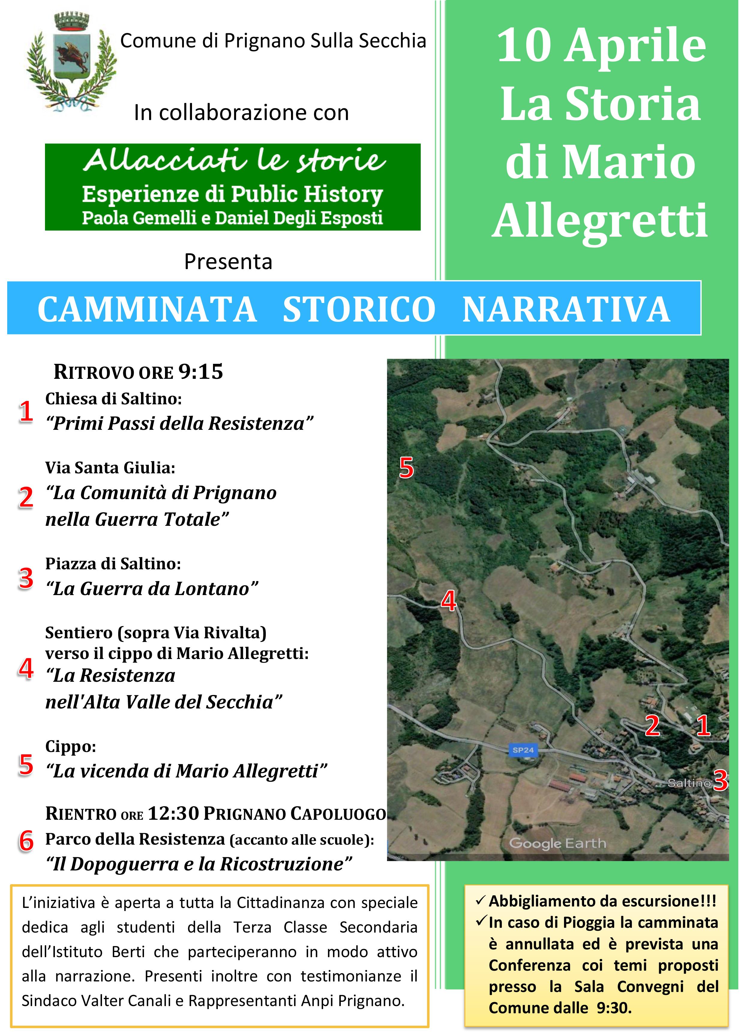 Camminata storica a Prignano e Saltino: Mario Allegretti
