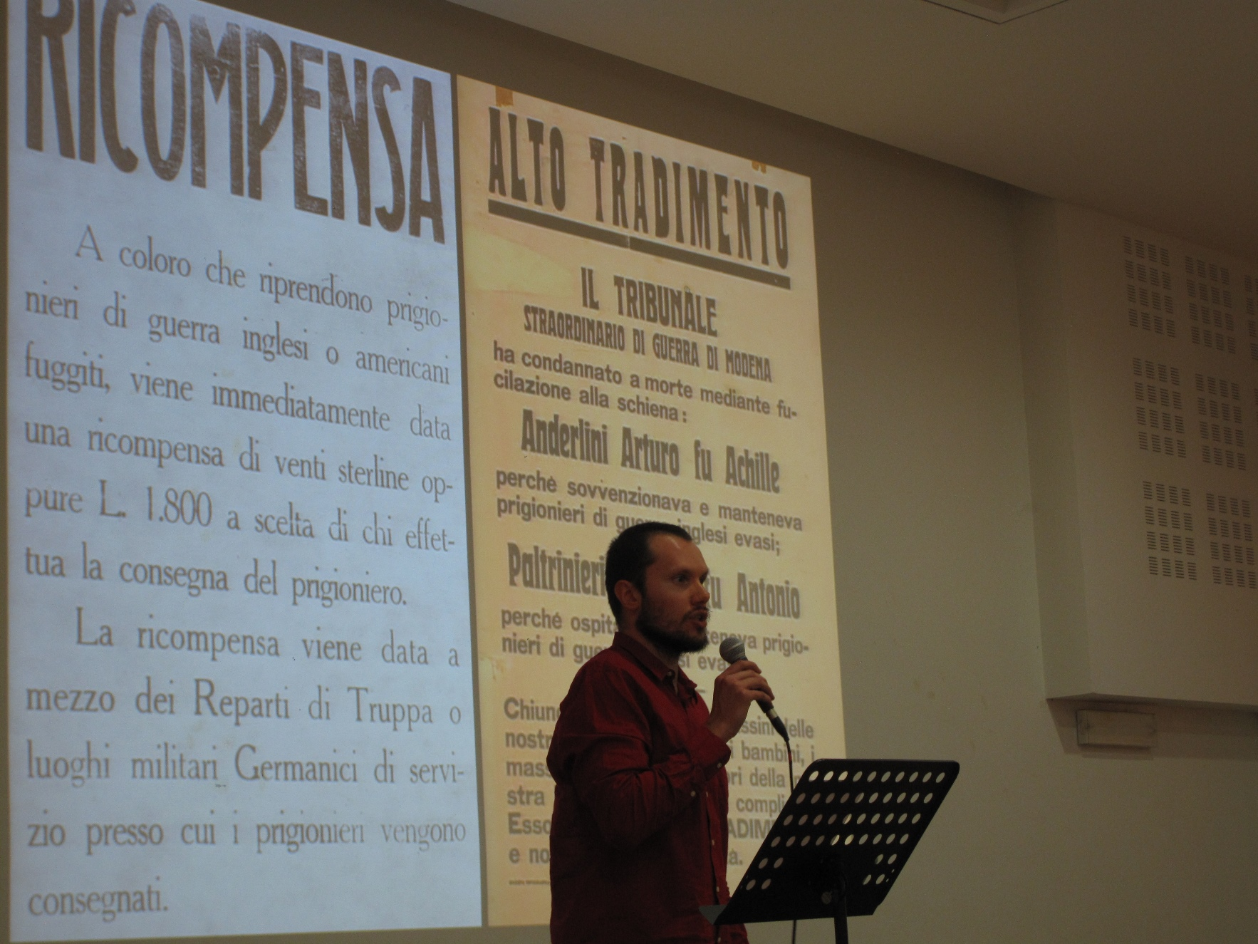 Storie di Resistenza: Un momento della conferenza-spettacolo