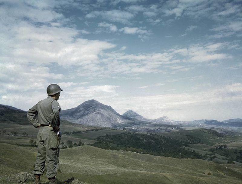 Soldato statunitense dopo lo sfondamento della Linea Gotica sull'Appennino tosco-emiliano nel 1945 - Museo dei Monti della Riva