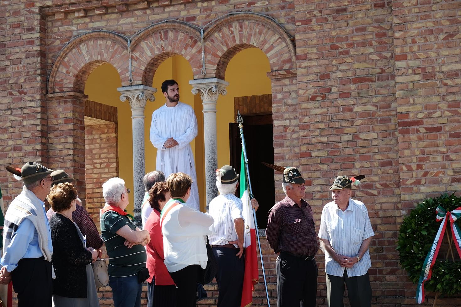 Un momento dello spettacolo teatrale sulla strage di Ospitaletto (agosto 2016). Foto di Fausto Corsini