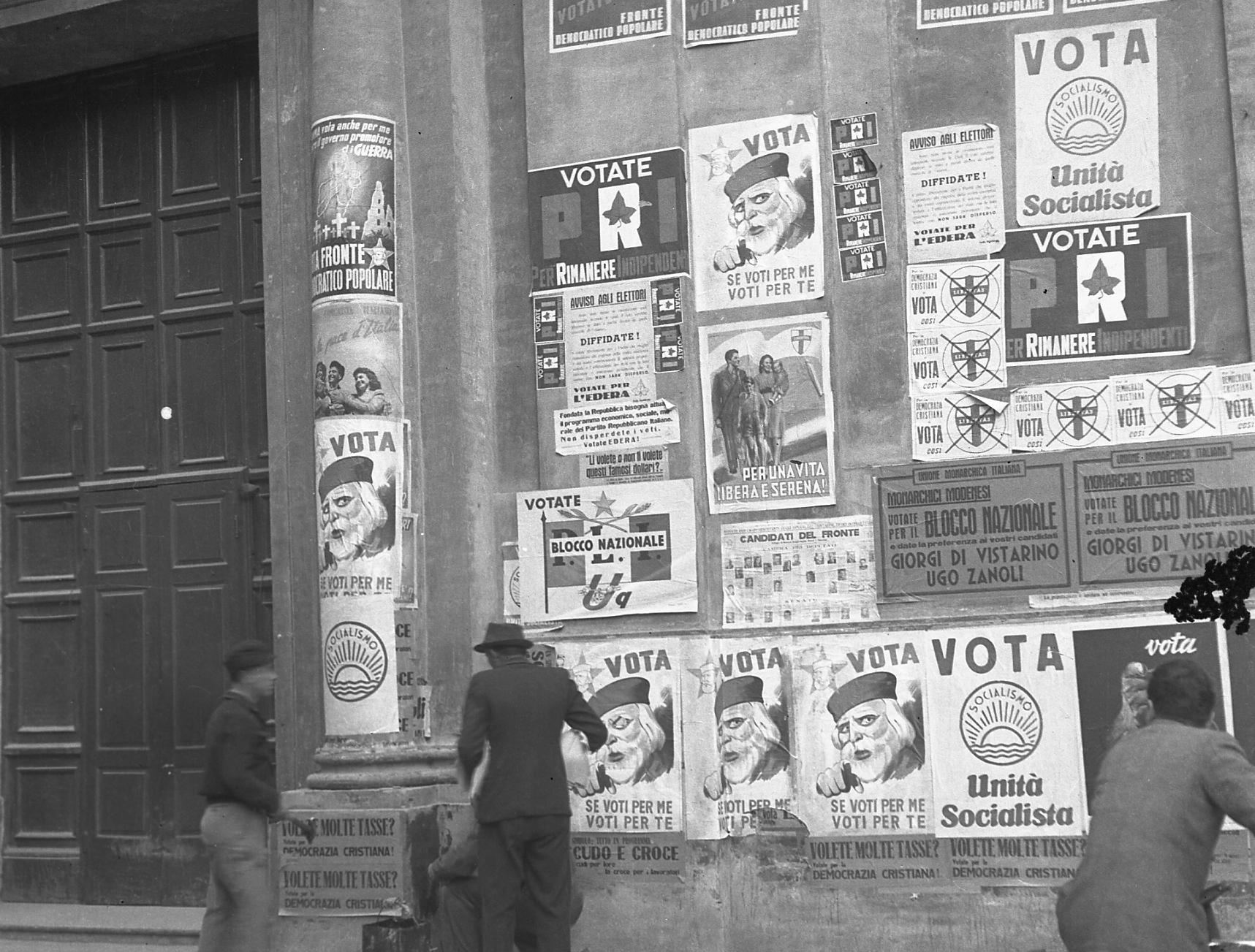 18 aprile 1948. Foto tratta dal fondo fotografico di Giuseppe Simonini