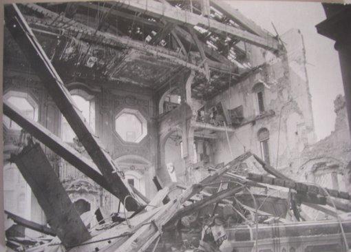 Storia del basket in Italia: la sinagoga di Livorno dopo i bombardamenti della Seconda guerra mondiale