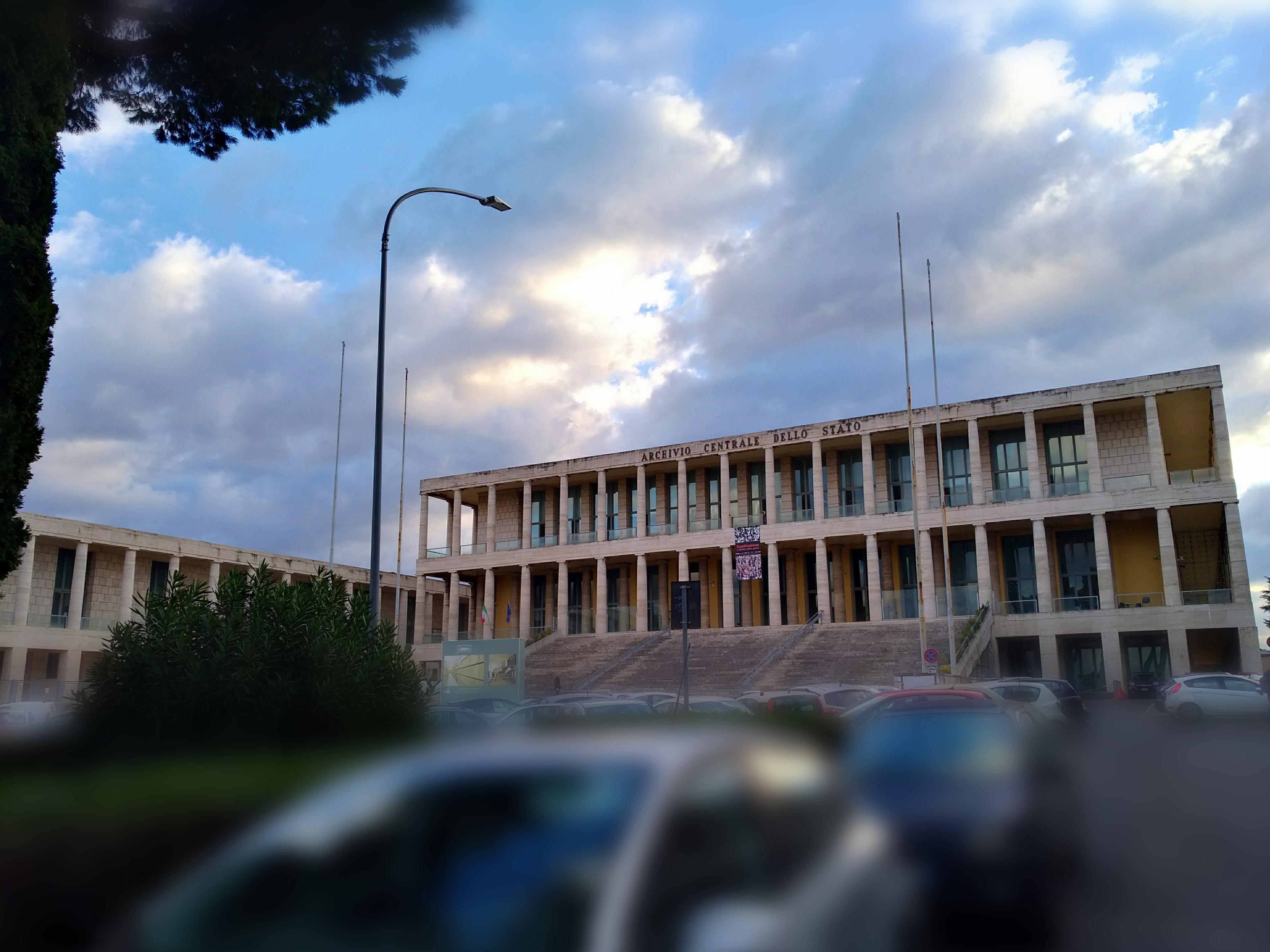 Giorno del ricordo a Sassuolo. L'edificio che ospita l'Archivio centrale dello Stato all'EUR. Foto di Paola Gemelli