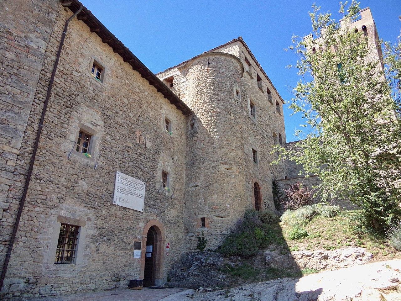 Resistenza nel Frignano: Un dettaglio del castello di Montecuccolo. Foto di Mgmar79 via Wikimedia commons