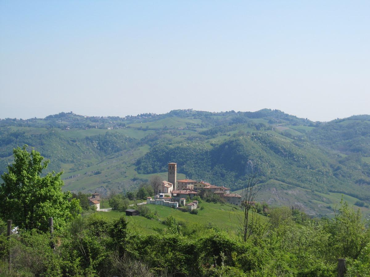Festà vista dall'altura della località Codicello - battaglia di Benedello
