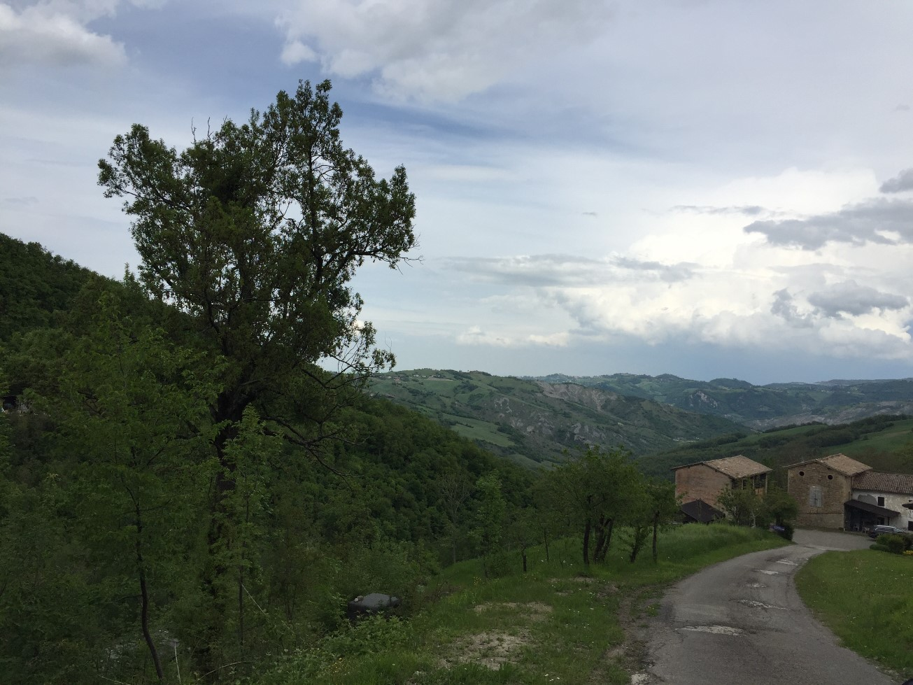 Panorama della valle del Panaro dalla zona di Benedello - battaglia di Benedello