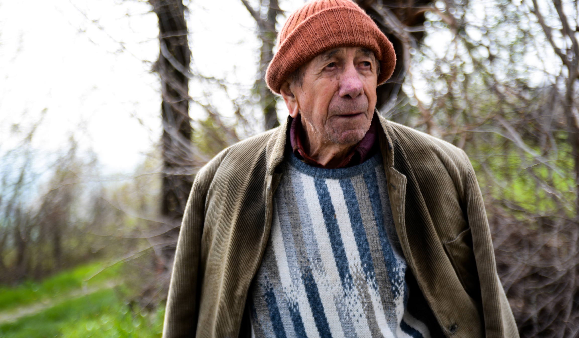 Un momento dell'intervista a Nello Bettelli, inserita nel film-documentario Sentieri di democrazia