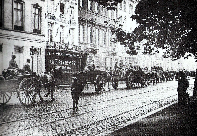 L'esercito tedesco nelle strade di Bruxelles - viaggio in Belgio Prima guerra mondiale