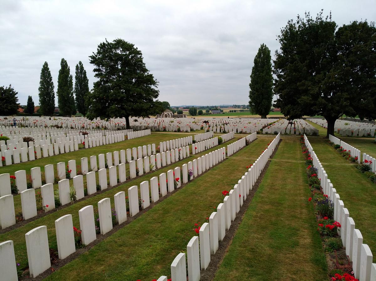 Cimitero di Tyne Cot - Viaggio in Belgio Prima guerra mondiale