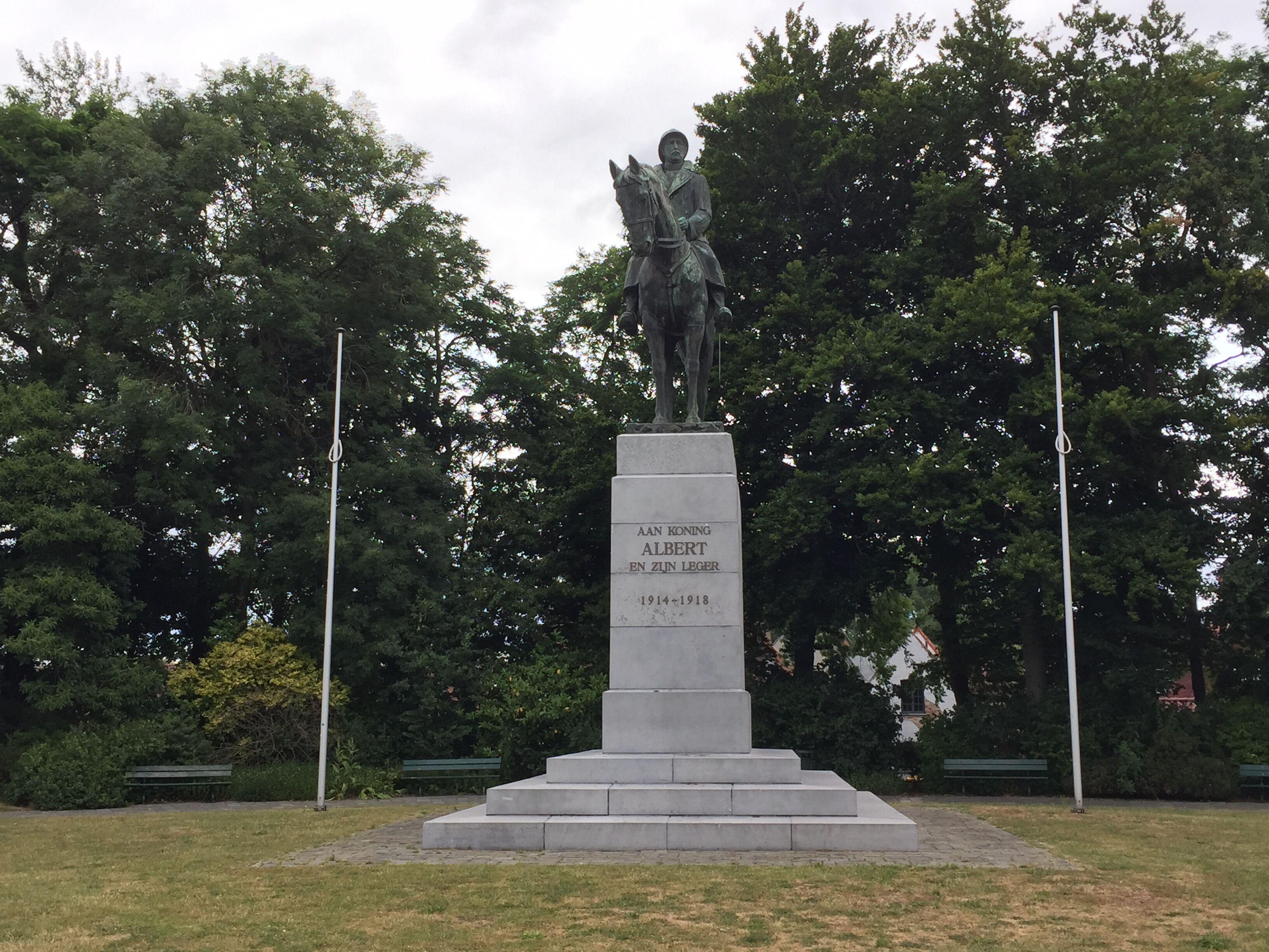 Monumento equestre dedicato ad Alberto I, re del Belgio e condottiero dell'esercito durante la Prima guerra mondiale