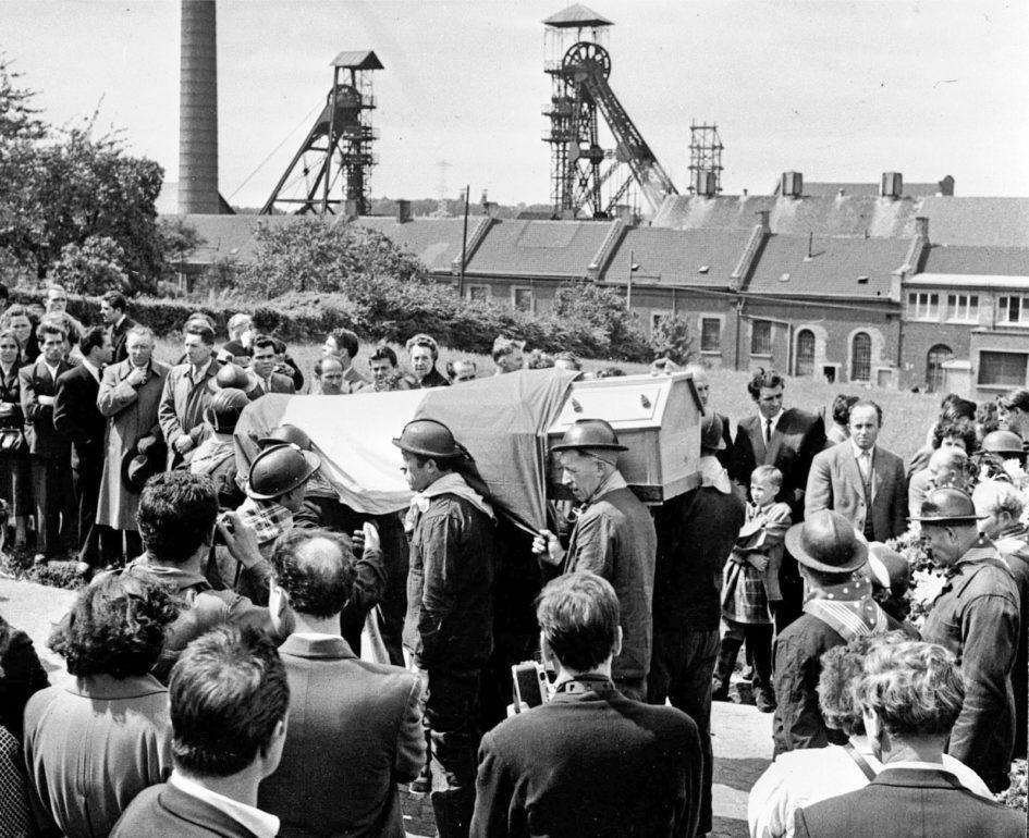 Funerali di vittime del disastro di Marcinelle