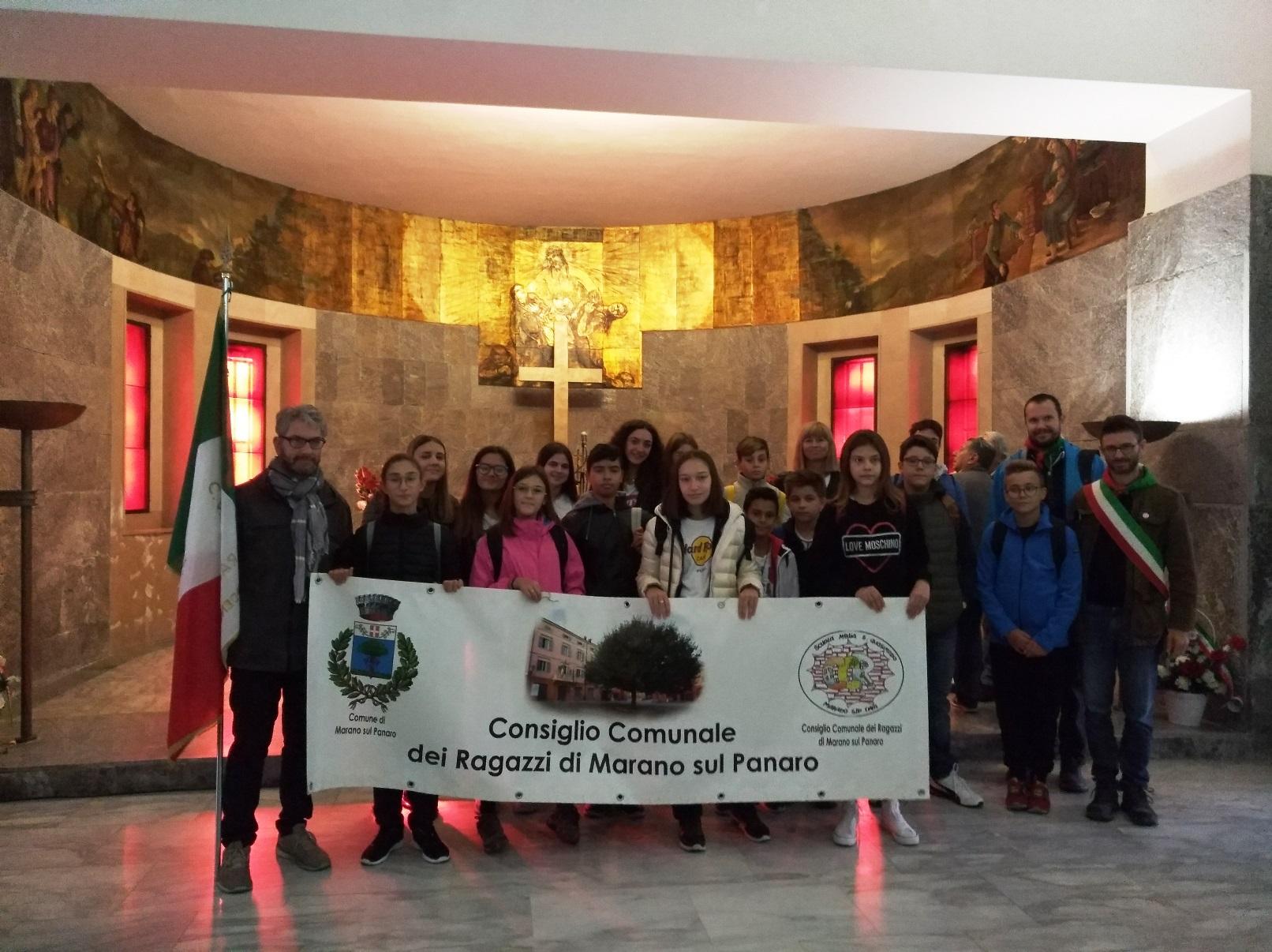 Il CCR di Marano sul Panaro nel sacrario di Marzabotto - strage di Marzabotto