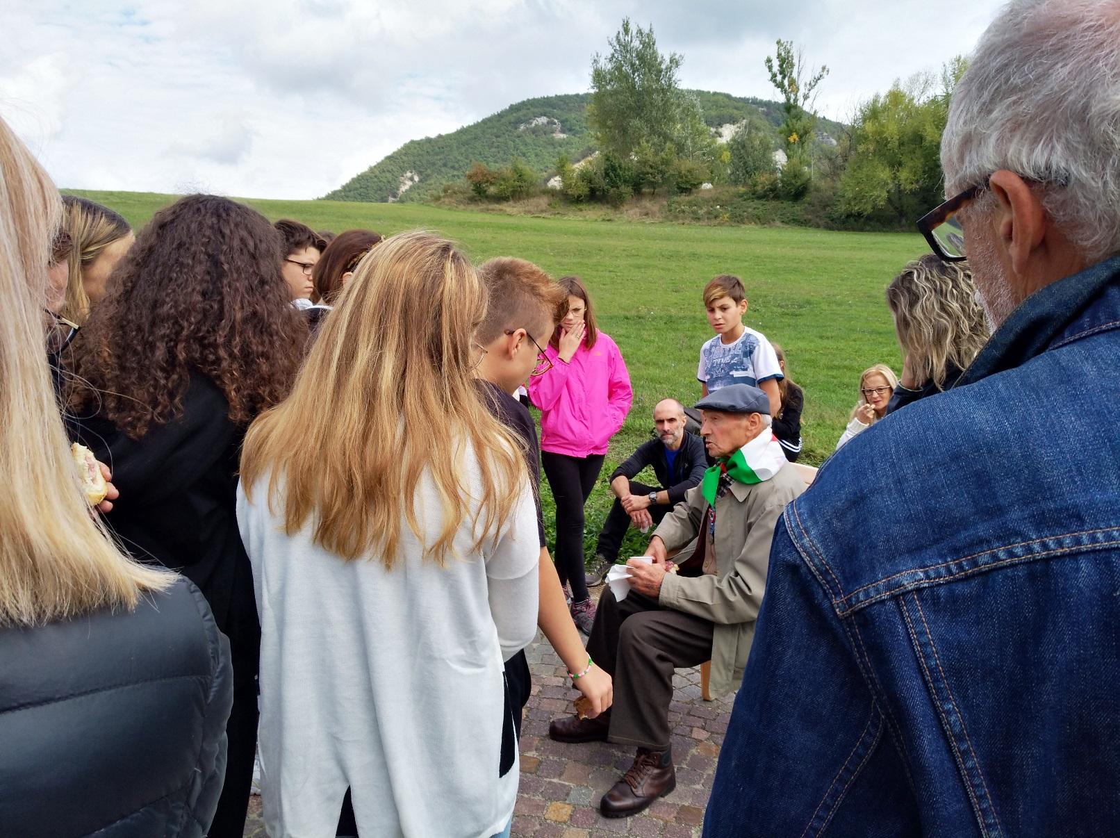 Lorenzo Simonini, collaboratore della Resistenza modenese e rastrellato dai nazisti, racconta la sua esperienza ai ragazzi del CCR