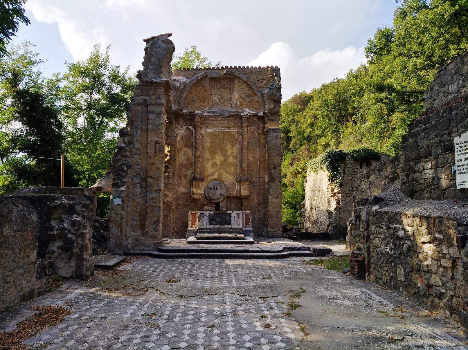 strage di Marzabotto - Le rovine della chiesa di Casaglia