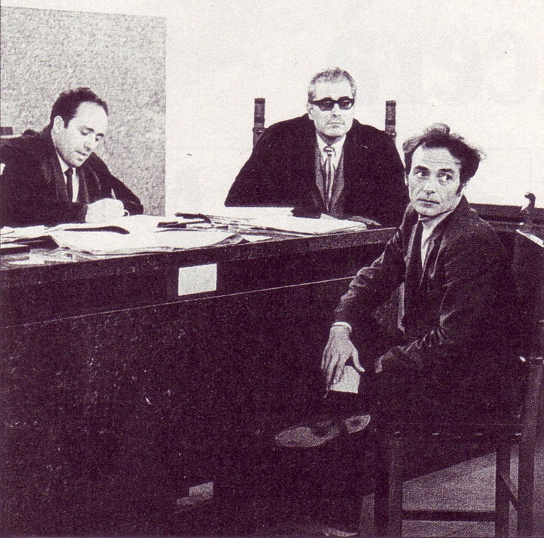 Strategia della tensione. Pietro Valpreda durante un'udienza del processo per la strage di Piazza Fontana. Foto via Wikimedia Commons