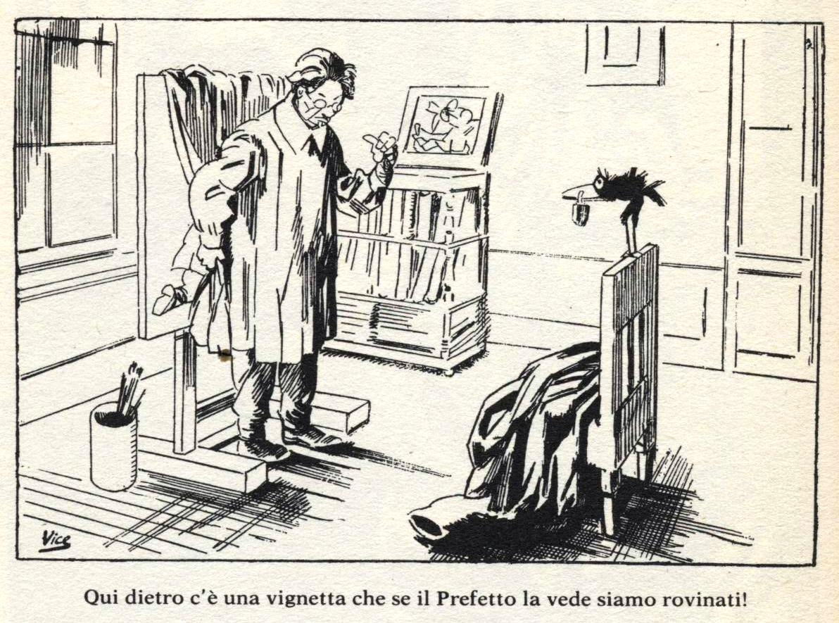 """Vignetta di Gabriele Galantara, pubblicata sul settimanale satirico """"Becco Giallo"""" il 18 gennaio 1925 - delitto Matteotti"""
