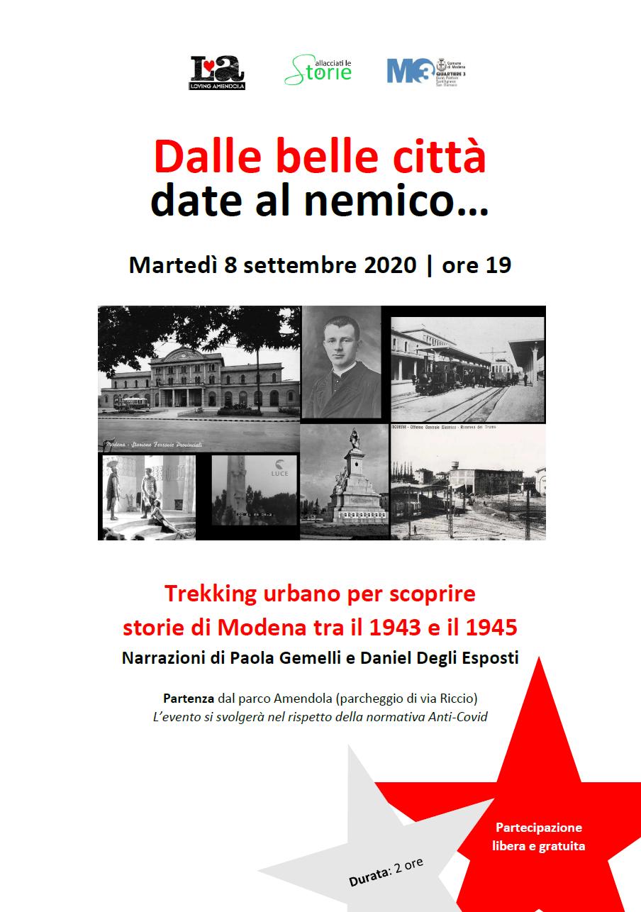 trekking storico Modena 1943-1945 - 8 settembre 2020