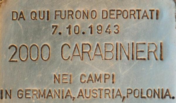 deportazione dei carabinieri di Roma