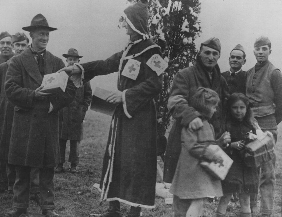 Attività della Croce rossa americana nel Natale del 1918