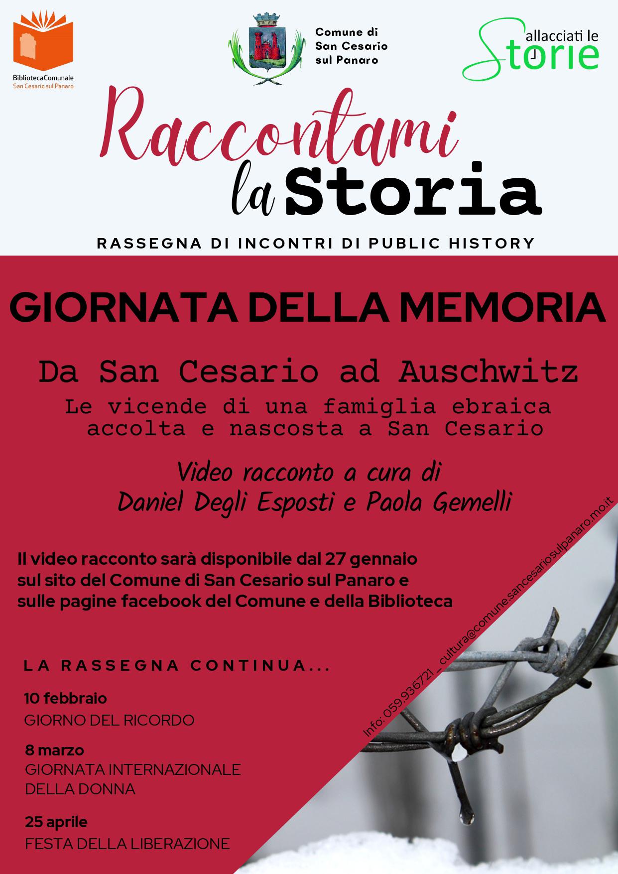 Giorno della Memoria 2021 - San Cesario sul Panaro