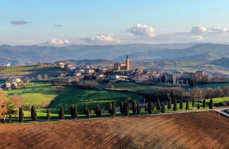 Ospitaletto di Marano dall'alto. Foto di Fausto Corsini